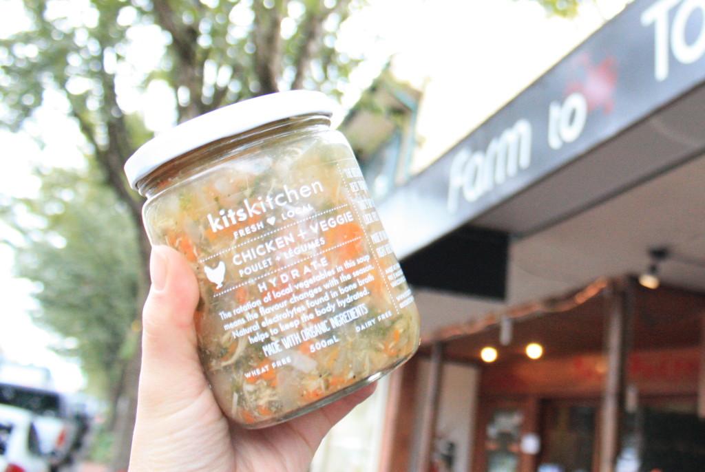kitskitchen soup chicken + veggie