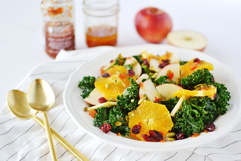 Kale and Apple Citrus Salad - kitskitchen Recipe