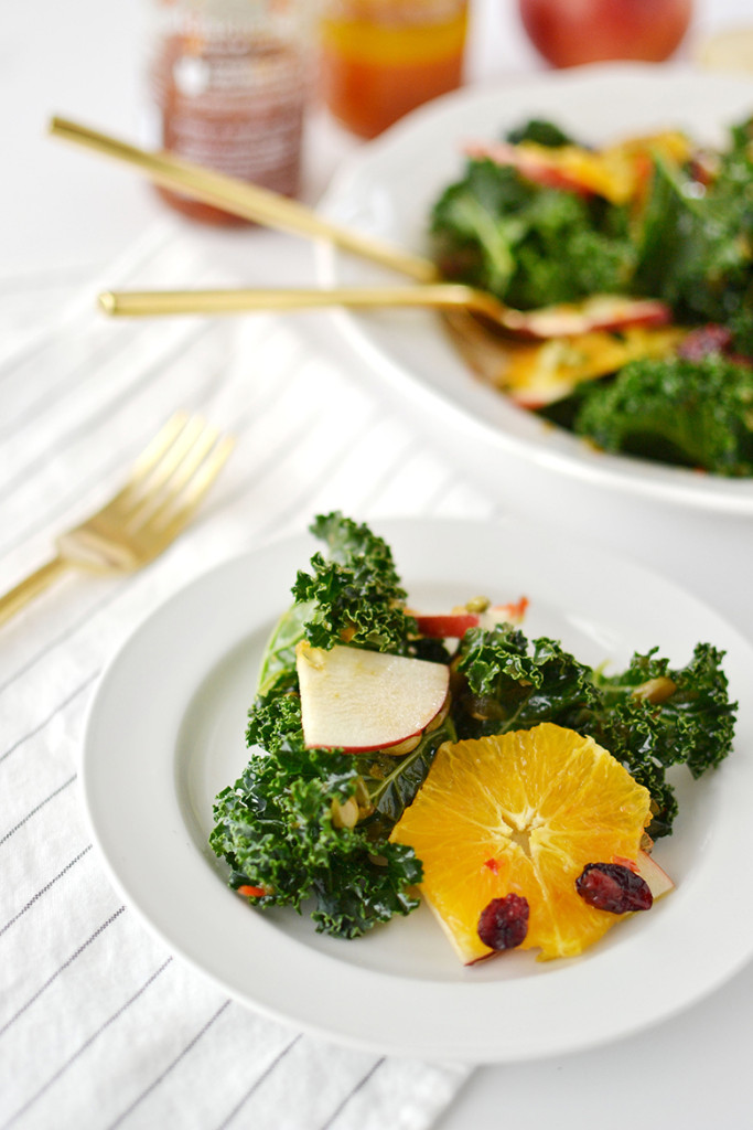 Kale and Apple Citrus Salad - kitskitchen Red Pepper Jalapeno Spread Recipe