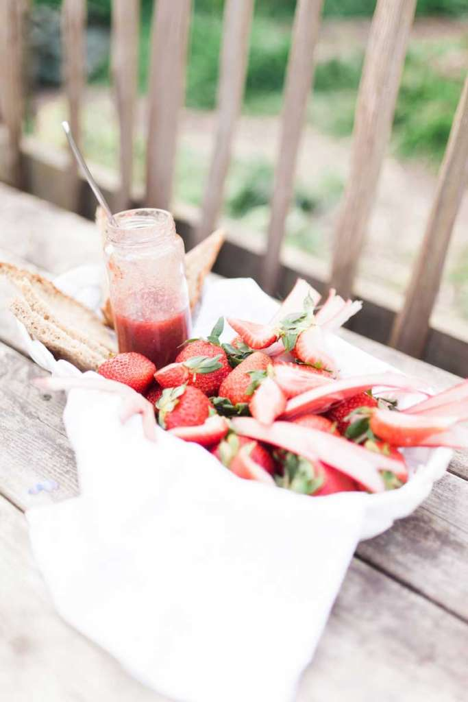 kitskitchen strawberry rhubarb jam recipe