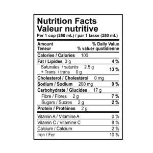 Vegan Cream of Mushroom Soup Nutritional Information
