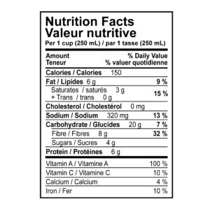 Green Curry Lentil Soup Nutritional Information